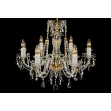 Bohemian BCC06C Clear Crystal Chandelier - 6-Light