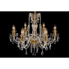 Bohemian BCC06CG Gold Crystal Chandelier - 6-Light
