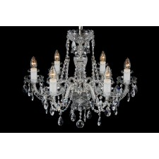 Bohemian BCC06CS Silver Crystal Chandelier - 6-Light
