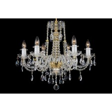 Bohemian BCC06F Clear Crystal Chandelier - 6-Light