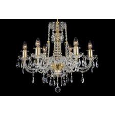 Bohemian BCC06FG Gold Crystal Chandelier - 6-Light