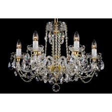 Bohemian BCC06NB Colourless Crystal Chandelier - 6-Light