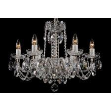 Bohemian BCC06NBS Silver Crystal Chandelier - 6-Light