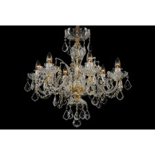 Bohemian BCC06SP Clear Crystal Chandelier with Swarovski Trimmings - 6-Light