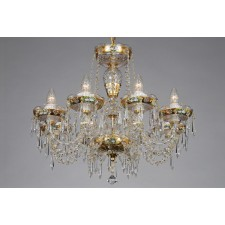 Bohemian BCC08 Gold Crystal Chandelier - 8-Light