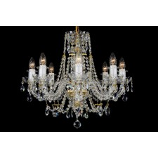Bohemian BCC08A Neutral Crystal Chandelier - 8-Light