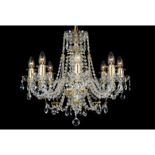 Bohemian BCC08AG Gold Crystal Chandelier - 8-Light