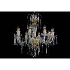 Bohemian BCC08K Clear Crystal Chandelier - 8-Light