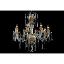 Bohemian BCC08KG Gold Crystal Chandelier - 8-Light