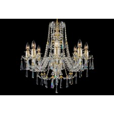 Bohemian BCC08KNG Golden Crystal Chandelier - 8-Light