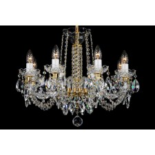 Bohemian BCC08NB Colourless Crystal Chandelier - 8-Light