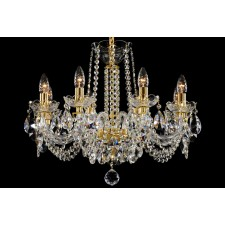 Bohemian BCC08NBG Low Ceiling Crystal Chandelier - 8-Light