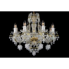 Bohemian BCC08V Crystal Chandelier with Grape-Shaped Trimmings - 8-Light