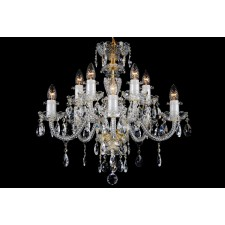 Bohemian BCC10B Neutral Crystal Chandelier - 10-Light
