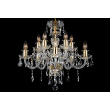 Bohemian BCC10BG Gold Crystal Chandelier - 10-Light