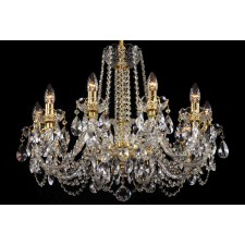 Bohemian BCC10NBG Low Ceiling Crystal Chandelier - 10-Light
