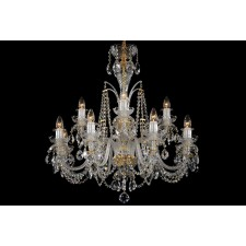 Bohemian BCC122D Crystal Chandelier with Dishes - 12-Light