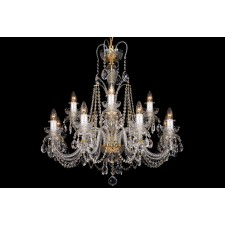Bohemian BCC122DK Neutral Crystal Chandelier - 12-Light