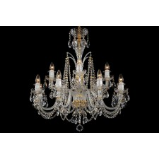 Bohemian BCC12D Clear Crystal Chandelier - 12-Light