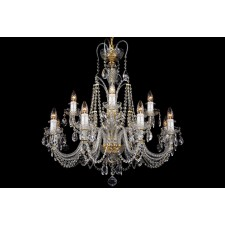 Bohemian BCC12DK Colourless Crystal Chandelier - 12-Light