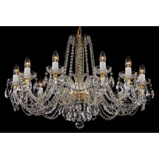 Bohemian BCC12NBN Low Ceiling Colourless Crystal Chandelier - 12-Light