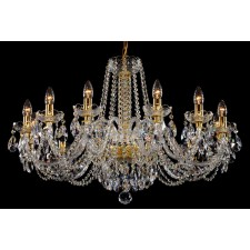 Bohemian BCC12NBNG Low Ceiling Crystal Chandelier - 12-Light