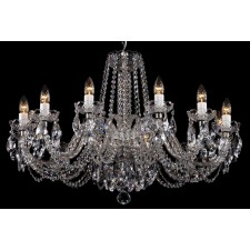Bohemian BCC12NBNS Low Ceiling Crystal Chandelier - 12-Light