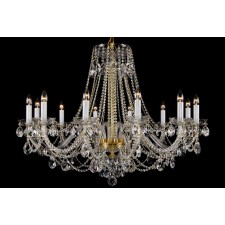 Bohemian BCC12XL Colourless Crystal Chandelier - 12-Light