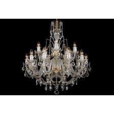 Bohemian BCC15D Neutral Crystal Chandelier - 15-Light