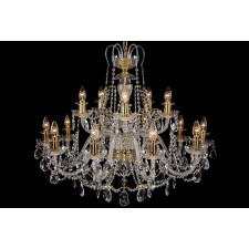 Bohemian BCC15KG Gold Crystal Chandelier - 15-Light