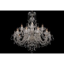 Bohemian BCC15SPS Clear Crystal Chandelier with Swarovski Trimmings - 15-Light