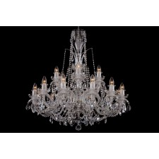Bohemian BCC182DS Crystal Chandelier with Dishes - 18-Light