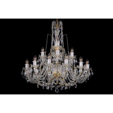 Bohemian BCC18D Neutral Crystal Chandelier - 18-Light