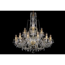 Bohemian BCC18DG Clear Crystal Chandelier - 18-Light