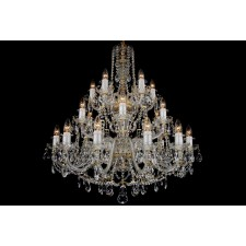 Bohemian BCC24D Clear Crystal Chandelier - 24-Light