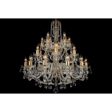 Bohemian BCC24DG Clear Crystal Chandelier - 24-Light
