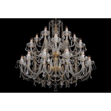 Bohemian BCC24SP Clear Crystal Chandelier with Swarovski Trimmings - 24-Light