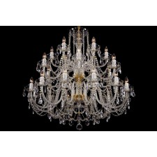 Bohemian BCC24XL Clear Crystal Chandelier - 24-Light