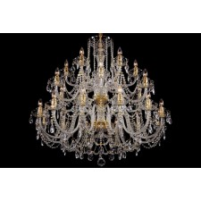 Bohemian BCC24XLG Neutral Crystal Chandelier - 24-Light