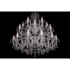 Bohemian BCC24XLS Neutral Crystal Chandelier - 24-Light