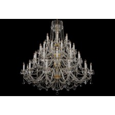 Bohemian BCC42XL Neutral Crystal Chandelier - 42-Light