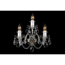 Bohemian W-03S Neutral Crystal Wall Light - 3-Light