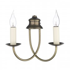 Bermuda Wall Light - 2 Light Aged Brass