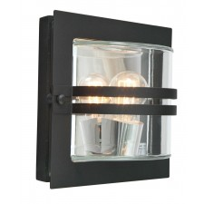 Norlys BERN E27 BLK C Bern Wall Light E27 Black Clear
