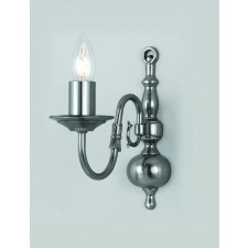Impex Flemish Wall Light Pewter - 1 Light