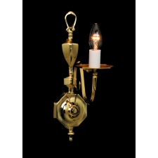 Impex Ghent Wall Light - 1 Light, Polished Brass and Gold