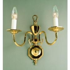 Impex Ghent Wall Light Cast Brass - 2 Light