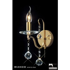 Diyas Bianco Crystal Wall 1 Light Gold Plated