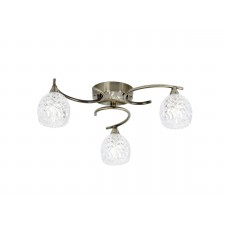 Boyer 3 Light Ceiling Light - Antique Brass