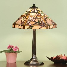 Interiors1900 Clematis Table Lamp with Solid Brass Base